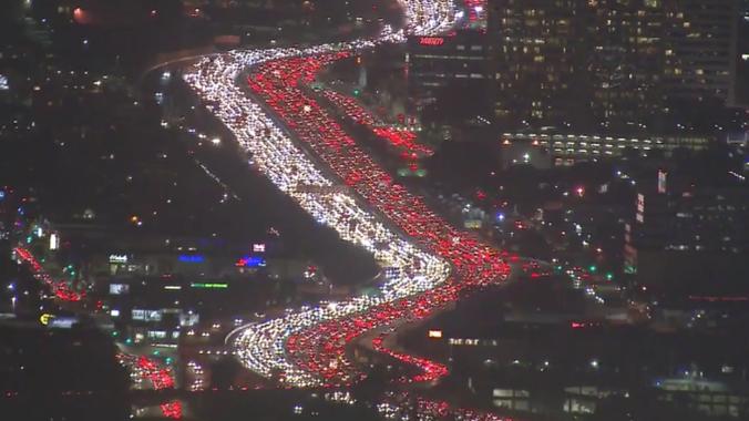 CA traffic jam